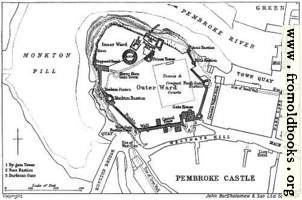 Plan of Pembroke Castle