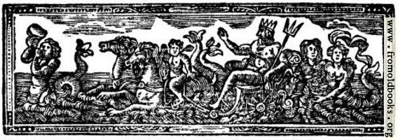 Chapter Heading Woodcut featuring Neptune and Mermaids