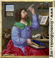 Evangelist with lion