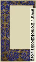 Ornate blue and gold full-page border