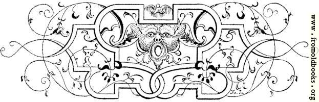 Tailpiece with grotesque gargoyle figure