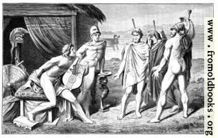 Achilles und die Gesandten der Griechen