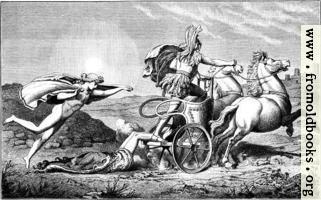Apollo beschuekt die Leiche Hektors