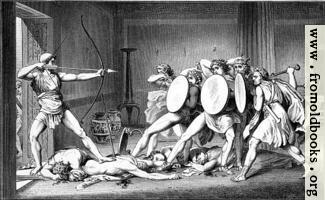 Odysseus toetet die Freier