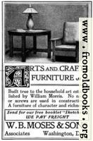 Old Advert: Arts and Crafts Furniture