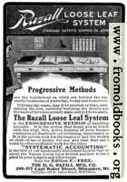 Old Advert: Razall Loose Leaf System