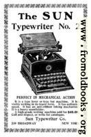 Old Advert: The Sun Typewriter