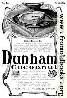 Dunham's Coconut Ad