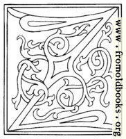 clipart: initial letter Z from late 15th century printed book