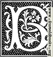 clipart: initial letter B from beginning of the 16th Century