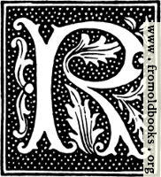 clipart: initial letter R from beginning of the 16th Century