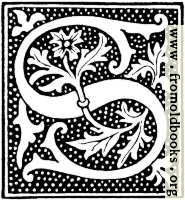 clipart: initial letter S from beginning of the 16th Century