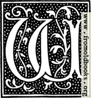 clipart: initial letter W from beginning of the 16th Century