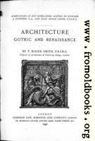 Title Page, Architecture: Gothic and Renaissance