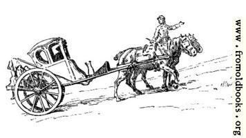 Postilion galloping uphill