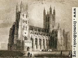 Plate II. Canterbury Cathedral. South West View.