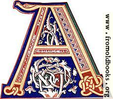 "Decorative initial letter ""A"" from 11th century."
