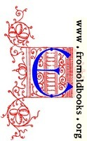 Decorative uncial initial letter E from fifteenth Century Nos. 4 and 5.