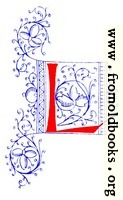 Decorative initial letter L from fifteenth Century Nos. 4 and 5.
