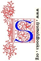 Decorative initial letter S from fifteenth Century Nos. 4 and 5.