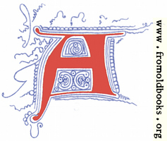 Fourteenth Century Initial Letter A from Plate 65