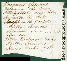 Harwood 4: back of scrap of envelo;e.