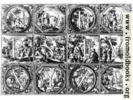 Valerio Spada: Historiated Alphabet, 1656– 1659 [N-Z]