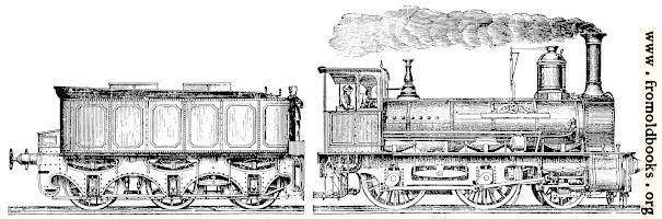 Stock block: Victorian railway engine and tender
