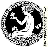 Stock block: Child kneeling in a circular vignette