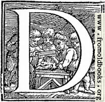 "Initial letter ""D"" from p. 650"