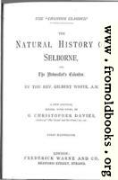 Title Page (Natural History of Selborne)