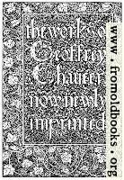 Title Page, Kelmscott Chaucer