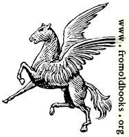 Winged horse from heraldic shield