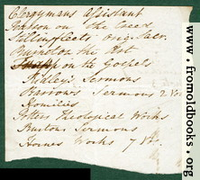 Harwood 4: back of scrap of envelo;e.